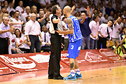 DESCRIZIONE : Campionato 2014/15 Serie A Beko Grissin Bon Reggio Emilia - Dinamo Banco di Sardegna Sassari Finale Playoff Gara7 Scudetto<br /> GIOCATORE : David Logan Dino Seghetti arbitro<br /> CATEGORIA : arbitro delusione<br /> SQUADRA : Banco di Sardegna Sassari arbitro<br /> EVENTO : Campionato Lega A 2014-2015<br /> GARA : Grissin Bon Reggio Emilia - Dinamo Banco di Sardegna Sassari Finale Playoff Gara7 Scudetto<br /> DATA : 26/06/2015<br /> SPORT : Pallacanestro<br /> AUTORE : Agenzia Ciamillo-Castoria/GiulioCiamillo<br /> GALLERIA : Lega Basket A 2014-2015<br /> FOTONOTIZIA : Grissin Bon Reggio Emilia - Dinamo Banco di Sardegna Sassari Finale Playoff Gara7 Scudetto<br /> PREDEFINITA :