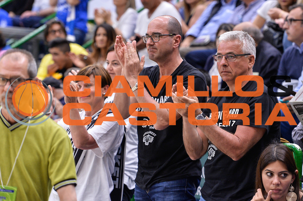 Tifosi Dolomiti Energia Aquila Basket Trento<br /> Banco di Sardegna Dinamo Sassari - Dolomiti Energia Aquila Basket Trento<br /> Legabasket Serie A LBA Poste Mobile 2016/2017<br /> Playoff Quarti Gara3<br /> Sassari 16/05/2017<br /> Foto Ciamillo-Castoria