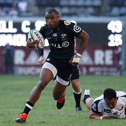 DURBAN, SOUTH AFRICA - MARCH 10: Makazole Mapimpi of the Cell C Sharks during the Super Rugby match between Cell C Sharks and Sunwolves at Jonsson Kings Park Stadium on March 10, 2018 in Durban, South Africa. (Photo by Steve Haag/Gallo Images)