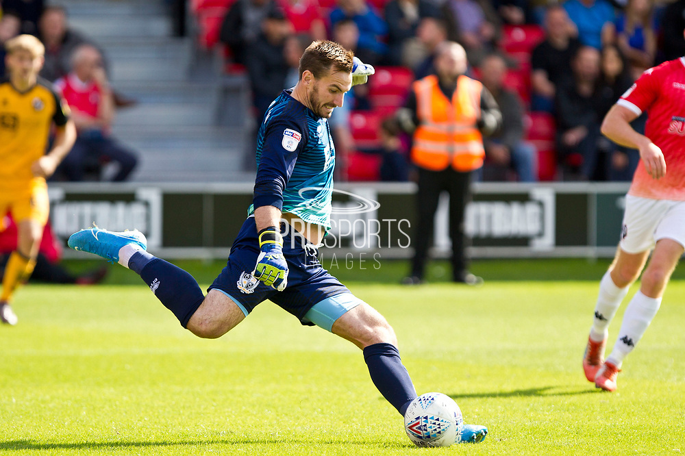 Port Vale goalkeeper Scott Brownin action during the EFL Sky Bet League 2 match between Salford City and Port Vale at Moor Lane, Salford, United Kingdom on 17 August 2019.