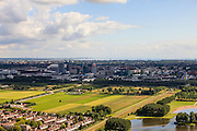 Nederland, Noord-Holland, Gemeente Ouderkerk aan de Amstel, 14-06-2012; Polder Nieuwe Bullewijk met zicht op Amsterdam-Zuidoost en de Bijlmermeer..Polder Bullewijk and view on Amsterdam South-East, Bijlmermeer. luchtfoto (toeslag), aerial photo (additional fee required).foto/photo Siebe Swart