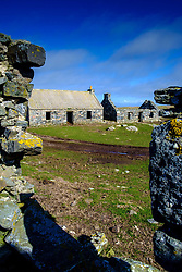 Abandoned crofts at Griminish, North Uist, Outer Hebrides, Scotland<br /> <br /> (c) Andrew Wilson | Edinburgh Elite media