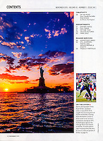 """Blaine Harrington's bi-monthly column """"On the Road"""" titled """"Source Crowding-How I Handle the Selfie Stick Invasion"""" in the November 2015 issue of Shutterbug Magazine."""