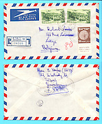 Letter from Jerusalem, Israel to Belgium 1954