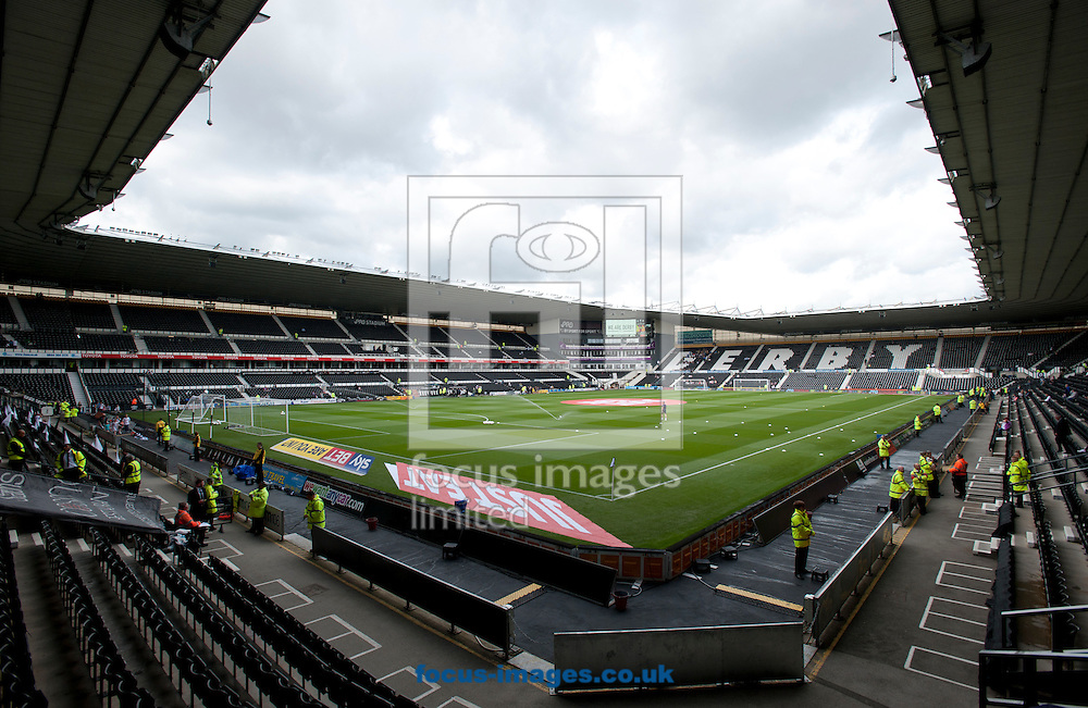 A general view of the stadium before the Sky Bet Championship match at the Ipro Stadium, Derby<br /> Picture by Russell Hart/Focus Images Ltd 07791 688 420<br /> 29/08/2015