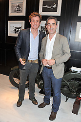 Left to right, NICK ENGLISH and GILES ENGLISH at the launch of the Bremont Boutique, 29 South Audley Street, London on 17th July 2012.
