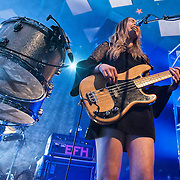 All girl band and sisters Haim take on the world famous Glasgow Barrowlands (PLEASE DO NOT REMOVE THIS CAPTION)<br />