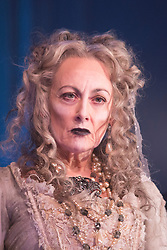"© Licensed to London News Pictures. 04/02/2013. London, England. Paula Wilcox as Miss Havisham. A new stage adaptation of Charles Dickens's ""Great Expecations"" will open at the Vaudeville Theatre, London, on Wednesday, 6 February 2013. It is the first ever full-scale stage play of Great Expectations in either the West End or on Broadway. Adaptation by Jo Clifford, directed by Graham McLaren. Photo credit: Bettina Strenske/LNP"
