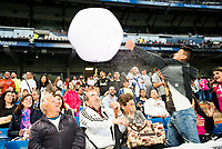Real Madrid supporters playing with a ball before start the celebration of the victory of the Real Madrid Champions League at Santiago Bernabeu in Madrid. May 29. 2016. (ALTERPHOTOS/Borja B.Hojas)