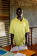 Emmanuel Oching is headmaster of the Kuleu Lights Academy, a nursery and primary school supported by an Anglican Church mission.<br /> Kapoeta, South Sudan. 25/09/2009.