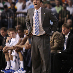 Mar 17, 2011; Tampa, FL, USA; Kentucky Wildcats head coach John Calipari during first half of the second round of the 2011 NCAA men's basketball tournament against the Princeton Tigers at the St. Pete Times Forum.  Mandatory Credit: Derick E. Hingle