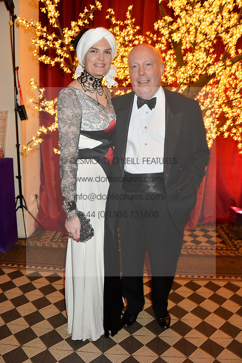 LORD JULIAN FELLOWES and his wife LADY EMMA KITCHENER-FELLOWES at the Sugarplum Dinner - The event was for the launch of Sugarplum Children, a new website and fundraising initiative for children who live with type 1 diabetes, and to raise money for JDRF (Juvenile Diabetes Research Foundation) held at One Mayfair, 13A North Audley Street, London on 20th November 2013.