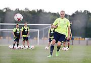 SWIDNIK, POLEN 2017-06-12<br /> Franz Brorsson under U21 landslagets tr&auml;ning p&aring; Stadion Miejski den 12 juni 2017.<br /> Foto: Nils Petter Nilsson/Ombrello<br /> Fri anv&auml;ndning f&ouml;r kunder som k&ouml;pt U21-paketet.<br /> Annars Betalbild.<br /> ***BETALBILD***