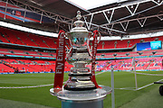 The FA Cup trophy during the The FA Cup Final between Crystal Palace and Manchester United at Wembley Stadium, London, England on 21 May 2016. Photo by Phil Duncan.