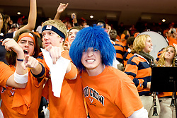 Members of the Hoo' Crew watch as the Virginia Cavaliers defeated the Arizona Wildcats 93-90 in the inaugural game held at the $130 million John Paul Jones Arena in Charlottesville, VA on November 12, 2006.