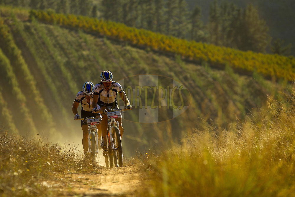 Karl Platt and Stefan Sahm during stage 1 of the 2011 Absa Cape Epic Mountain Bike stage race held from Saronsberg Wine Estate in Tulbagh, South Africa on the 28 March 2011..Photo by Sven Martin/Cape Epic/SPORTZPICS