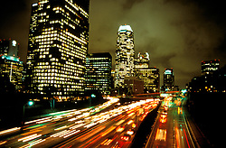 California: Los Angeles. Freeway at Night..Photo copyright Lee Foster, 510/549-2202, lee@fostertravel.com, www.fostertravel.com..Photo #: calosa102