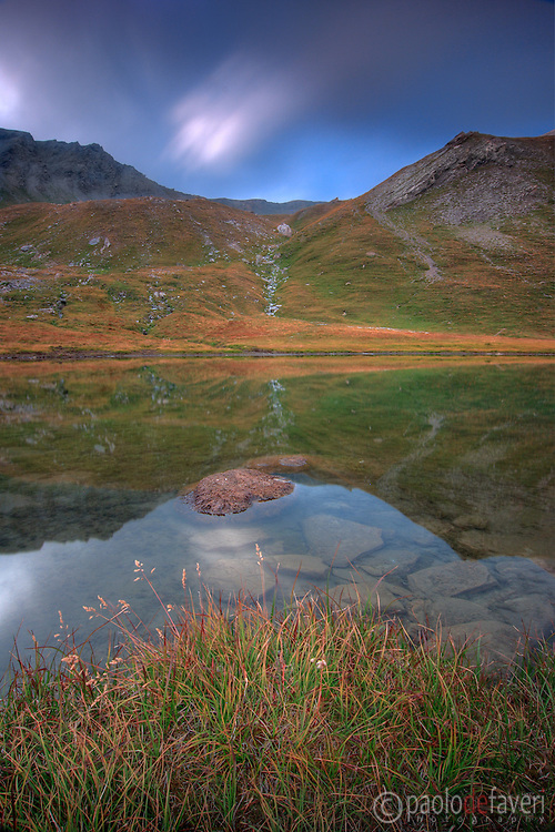 Just a small tarn I spotted while on my way up to the Col dell'Agnello, a pass in the Alps linking Italy to France. Taken at the end of August, about 1 hour before sunset.