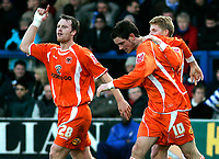 Photo: Tom Dulat/Sportsbeat Images.<br /> <br /> Colchester United v Blackpool. The FA Barclays Premiership. 29/12/2007. <br /> <br /> Blackpool's Scott Vernon (10) celebrates his second goal together with Michael Flynn (L). Blackpool leads 2-0
