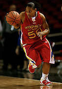 North Carolina recruit Italee Lucas dribbles the ball upcourt during the McDonald's All American High School Basketball Games at Freedom Hall in Louisville, Kentucky on March 28, 2007.