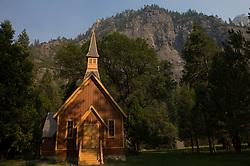 Yosemite Chapel, Yosemite National Park, California, USA.