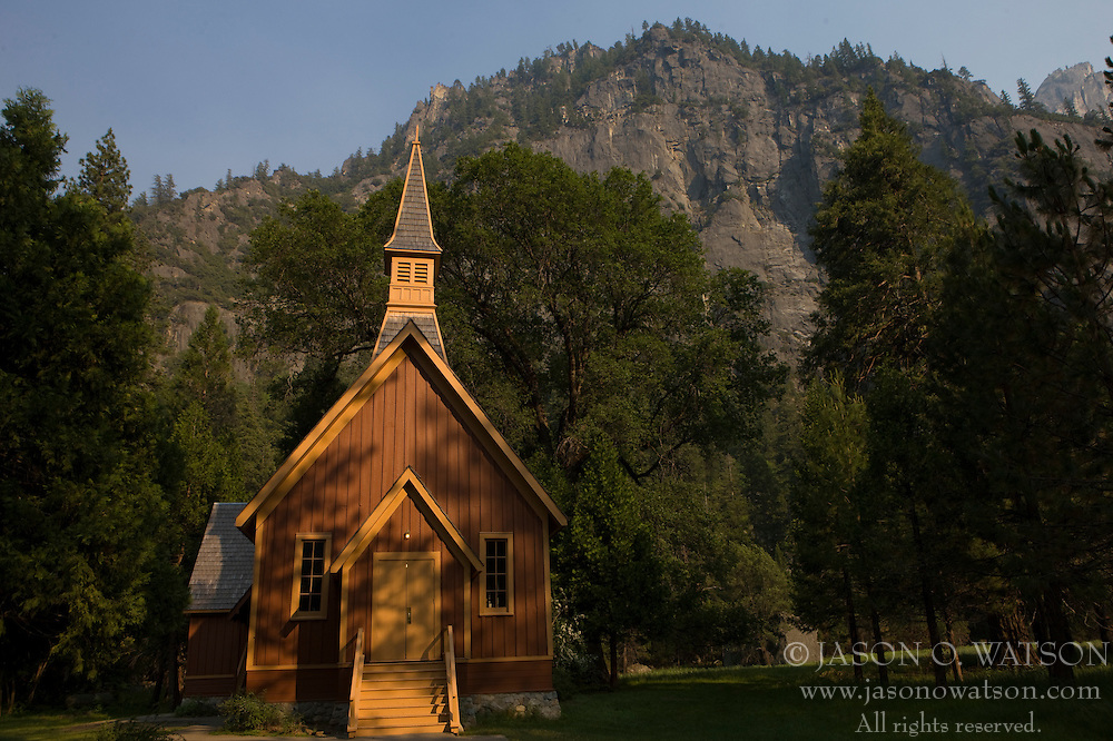 Yosemite Chapel, Yosemite National Park, California, USA.