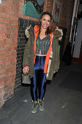 Singer, songwriter and member of pop girl group the Sugababes AMELLE BERRABAH at the Raymond Weil Pre-Brit Awards Dinner held at The Mosaica, The Chocolate Factory, Clarendon Rd, Wood Green, London N22 on 24th January 2013.