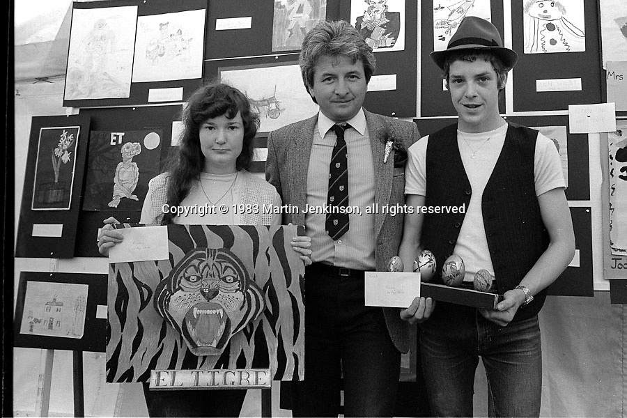 Ashley Jackson presents the prizes. 1983 Yorkshire Miner's Gala. Barnsley