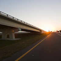 Sanibel bridge at sunset
