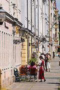 Dresden Neustadt, Königstraße, Barockhaeuser, Dresden, Sachsen, Deutschland.|.Dresden, Germany,  Dresden Neustadt, baroque buildings in king street