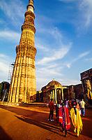 Qutab Minar (fluted tower), Delhi, India (tallest brick minaret in the world)