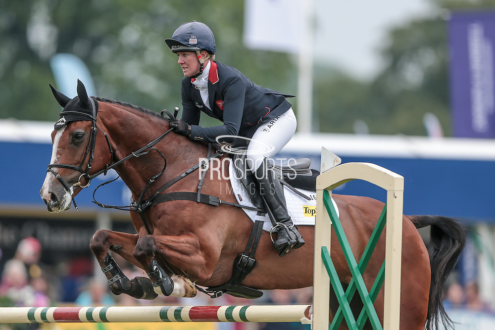 ONE TWO MANY ridden by Nicola Wilson competing in the show jumping at Bramham International Horse Trials 2016 at  at Bramham Park, Bramham, United Kingdom on 12 June 2016. Photo by Mark P Doherty.
