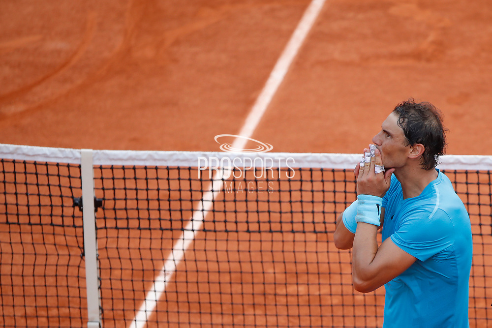 Rafael NADAL (ESP) reacted after winning the game during the Roland Garros French Tennis Open 2018, single Final Men, on June 10, 2018, at the Roland Garros Stadium in Paris, France - Photo Stephane Allaman / ProSportsImages / DPPI