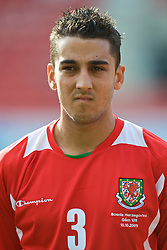 WREXHAM, WALES - Saturday, October 10, 2009: Wales' Neil Taylor before the UEFA Under-21 Championship Qualifying Round Group 3 match against Bosnia-Herzegovina at the Racecourse Ground. (Pic by Chris Brunskill/Propaganda)