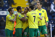 Picture by Paul Chesterton/Focus Images Ltd.  07904 640267.28/01/12.Simeon Jackson of Norwich scores what turns out to be the winning goal and celebrates during the FA Cup fourth round match at The Hawthorns Stadium, West Bromwich.