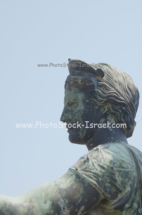 Statue of Diana at the Temple of Apollo, Pompeii, Campania, Italy under the Vesuvius volcano, July 2006