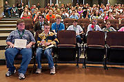 Participants of the Southeast Ohio Regional Spelling Bee wait for their names to be called to receive participation certificates Saturday, March 16, 2013. Pitcock will go to the Scripps National Spelling Bee located near Washington D.C. in May.