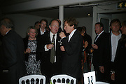 DAVID CAMPBELL AND THE HON ERSKINE GUINNESS, Dinner in aid of 'Action Trust For the Blind organised by Matthew Carr. 20th Century Theatre. Westbourne Gro. London. 26 September 2007. -DO NOT ARCHIVE-© Copyright Photograph by Dafydd Jones. 248 Clapham Rd. London SW9 0PZ. Tel 0207 820 0771. www.dafjones.com.