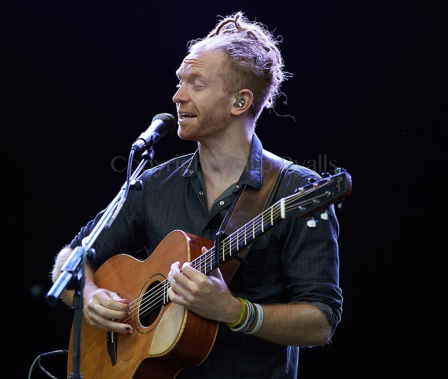 OXFORDSHIRE, UK - JULY 10: Newton Faulkner performs on stage at The Cornbury Music Festival on July 10th, 2016 in Oxfordshire, United Kingdom. (Photo by Philip Ryalls)**Newton Faulkner
