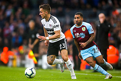 Joe Bryan of Fulham goes past Aaron Lennon of Burnley - Mandatory by-line: Robbie Stephenson/JMP - 26/08/2018 - FOOTBALL - Craven Cottage - Fulham, England - Fulham v Burnley - Premier League