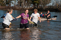 Salvation Army annual Turkey Plunge at Opechee Cove November 17, 2012.  (Karen Bobotas/for the Laconia Daily Sun)