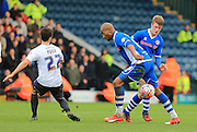 Calvin Andrew, Andy Cannon during the The FA Cup match between Rochdale and Bury at Spotland, Rochdale, England on 6 December 2015. Photo by Daniel Youngs.