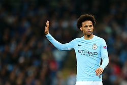 Leroy Sane of Manchester City gestures - Mandatory by-line: Matt McNulty/JMP - 26/09/2017 - FOOTBALL - Etihad Stadium - Manchester, England - Manchester City v Shakhtar Donetsk - UEFA Champions League Group stage - Group F