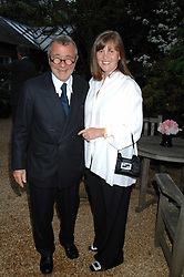 Designer JOSEPH ETTEDGUI and his wife at the annual Cartier Chelsea Flower Show dinner held at the Chelsea Physic Garden on 21st May 2007.<br /><br />NON EXCLUSIVE - WORLD RIGHTS