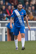 Goalscorer and Captain Hartlepool United striker Billy Paynter during the Sky Bet League 2 match between Hartlepool United and Dagenham and Redbridge at Victoria Park, Hartlepool, England on 12 March 2016. Photo by George Ledger.