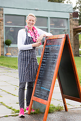 Edinburgh mum Nichola Pearce at the Boardwalk Beach Club, Cramond. She was the private chef to Star Trek actors Chris Pine and Idris Elba in Dubai for the filming of the recent Star Trek film.