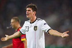 11.10.2011, Esprit Arena, Duesseldorf, GER, UEFA EURO 2012 Qualifikation, Deutschland (GER) vs Belgien (BEL), im Bild Mario Gomez (#23 GER, Bayern Muenchen) // during the UEFA Euro 2012 qualifying round Germany vs Belgium  at Esprit Arena, Duesseldorf 2011-10-11 EXPA Pictures © 2011, PhotoCredit: EXPA/ nph/  Kurth       ****** out of GER / CRO  / BEL ******