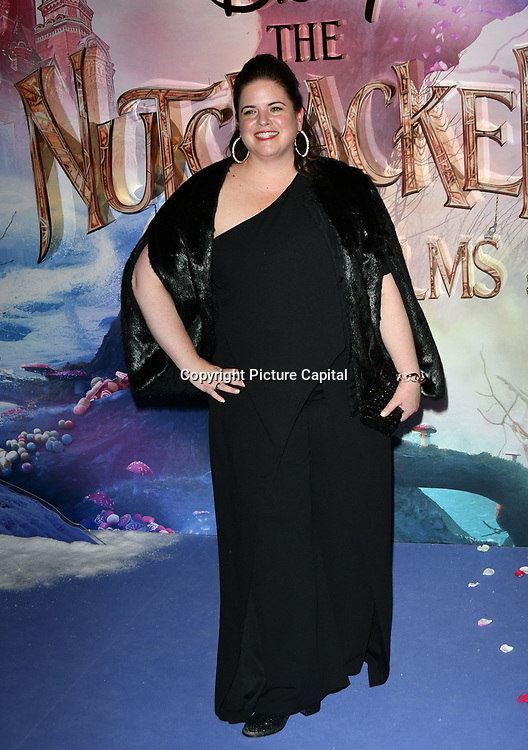 Producer Lindy Goldstein attend The Nutcracker and the Four Realms - UK premiere at Vue Westfield, Westfield Shopping Centre, Ariel Way on 1st Nov 2018, London, UK.