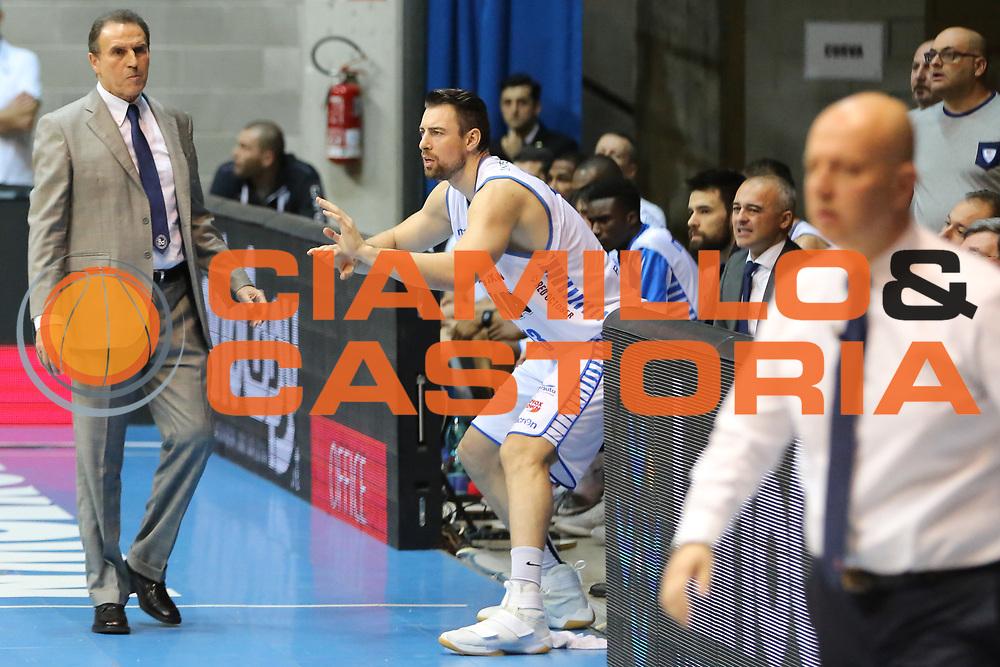 Callahan Craig e Recalcati Carlo, Mia Cantù vs Grissin Bon Reggio Emilia LBA serie A 6^ giornata di ritorno stagione 2016/2017 PalaDesio 06/03/2017