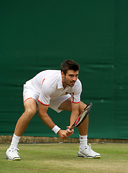 LONDON, ENGLAND - Saturday, June 26, 2010: Colin Fleming (GBR) during the Gentlemen's Doubles 1st Round match on day six of the Wimbledon Lawn Tennis Championships at the All England Lawn Tennis and Croquet Club. (Pic by David Rawcliffe/Propaganda)